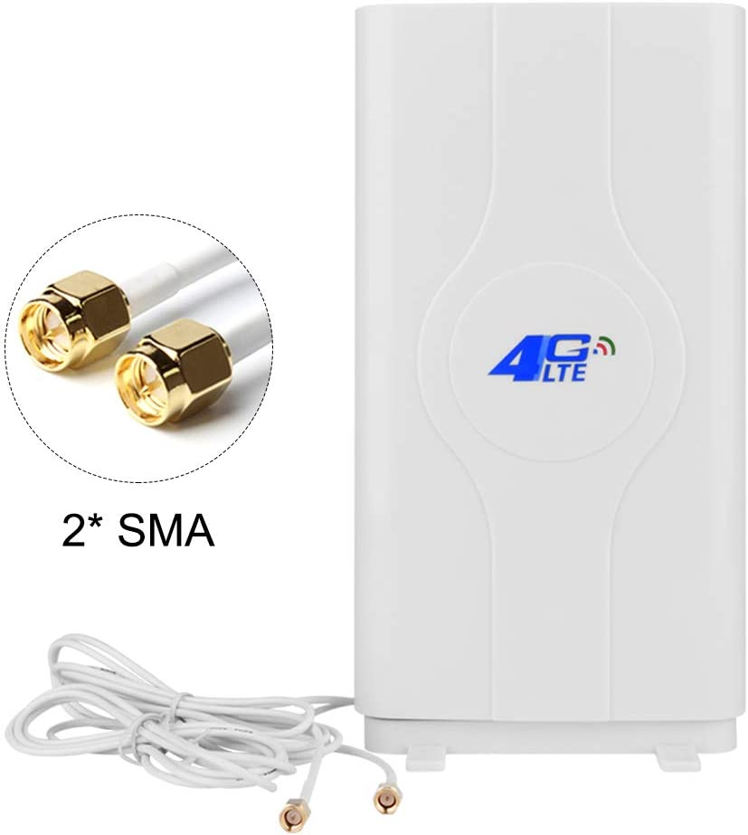 NETVIP SMA 4G LTE Antenna 30dBi High Gain Network Antenne Dual Mimo Long Range Cell Phone Signal Booster for WiFi Router/Mobile Broadband/Hotspot Amplifier with 2m SMA Male Connector Cable