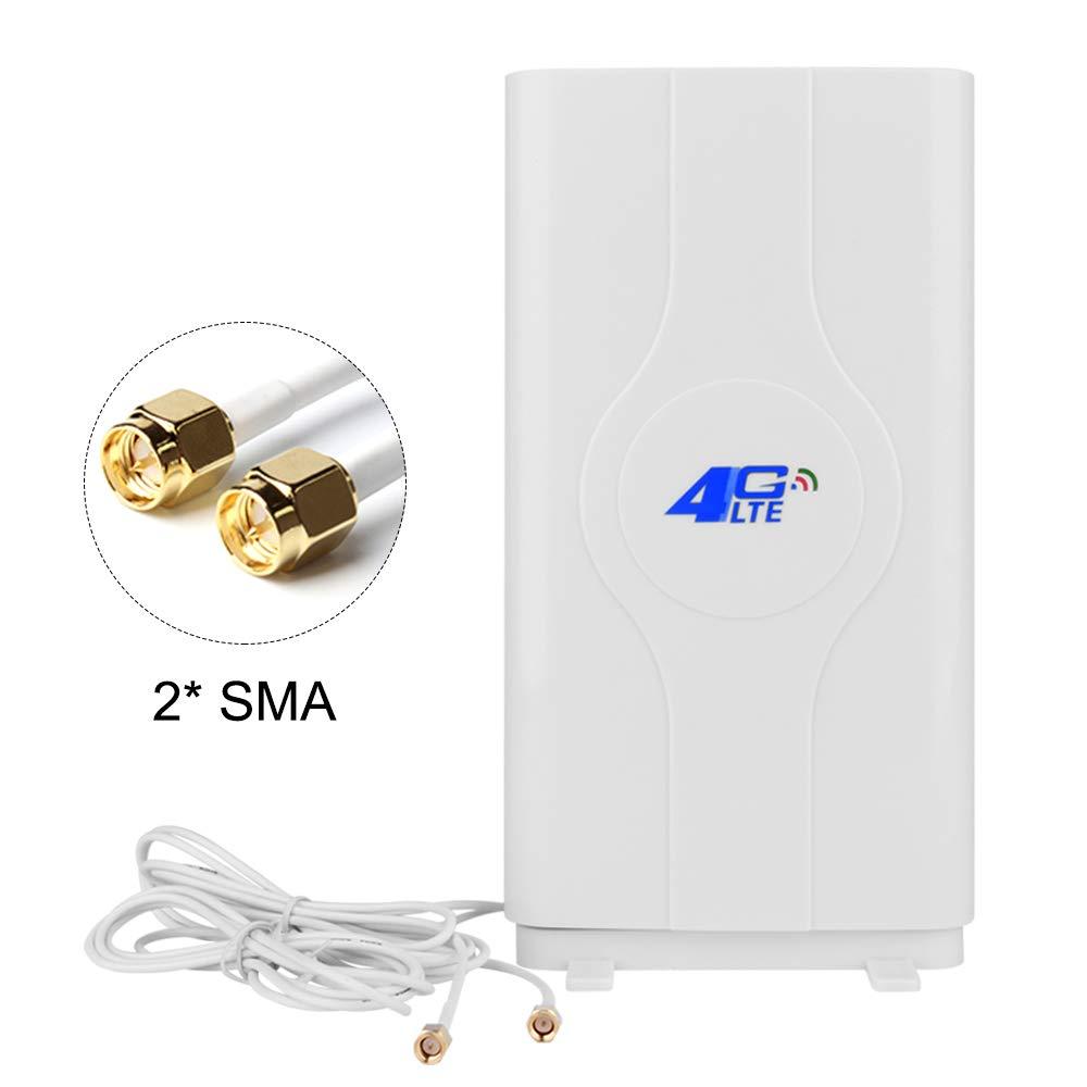 NETVIP 4G Antena SMA Ganancia 4G LTE Antena Dual Wifi Amplificador De Señal Amplificador Red Para Router Wifi Recepción De Banda Ancha Móvil Antena De ...