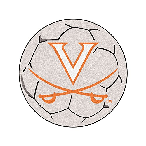 FANMATS NCAA University of Virginia Cavaliers Nylon Face Soccer Ball (Virginia Soccer Ball Rug)