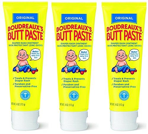 Boudreauxs Butt Paste Diaper Rash Ointment, XRCref, Original - Contains 16% Zinc Oxide - Pediatrician Recommended - Paraben and Preservative-Free - 3Pack (4 Ounce) ()