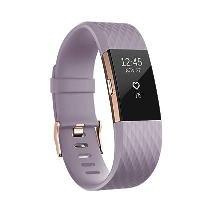 dff33b2afa23 Fitbit Charge 2 Edición Especial - Pulsera de Actividad Física y Ritmo  Cardiaco, Unisex Adulto, Lavanda / Oro Rosa, S