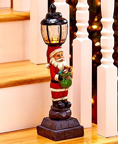 Outdoor Lamp Post Santa - 5