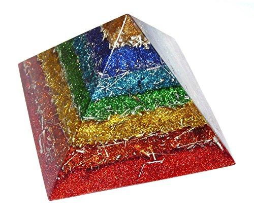 オルゴナイト チャクラピラミッド 90x65mm B00PQJQHYI