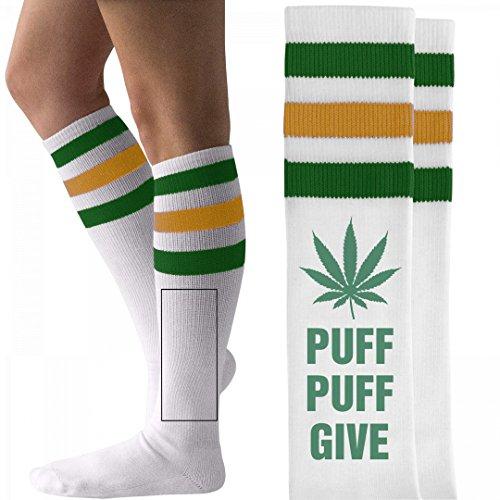 Puff Puff Give: Unisex Striped Knee-High Socks