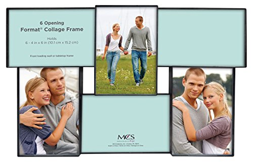 MCS 4x6 Inch Format Frame Collage, 6 Openings, Black (47677)