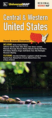 US Central & Western Regional Fold Map (Road Map Of Washington Oregon And Idaho)