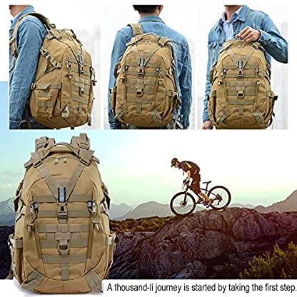LHI Military Backpack35L 45L Laptop backpack Army Heavy Duty Molle Tactical Backpack Assault Rucksack for Men for Hiking… 6
