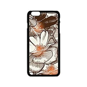 The Flowers Pattern Hight Quality Plastic Case for Iphone 6