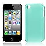 Retour en plastique Housse Etui vert pour Apple iPhone 4 4G 4S