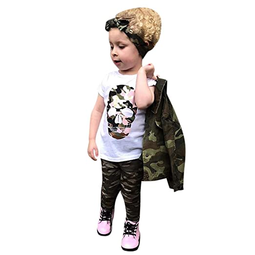 Marker Boards SNOWSONG Summer 2 Piece Sets Baby Boy Girl Short Sleeve T-Shirt Camouflage Pants Casual Clothes Outfits Coaches' & Referees' Gear