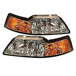 Ford Mustang All Model Headlight OE Style Replacement Headlamp Set New
