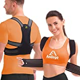 Back Brace Posture Corrector Women Men - Elastic Shoulder Posture Corrector for Upper & Lower Back Support - Posture Brace, Prevents Slouching - Model X (Size M)