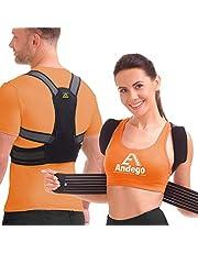 Back Brace Posture Corrector Women Men - Elastic Shoulder Posture Corrector for Upper & Lower Back Support - Posture Brace, Prevents Slouching - Model X