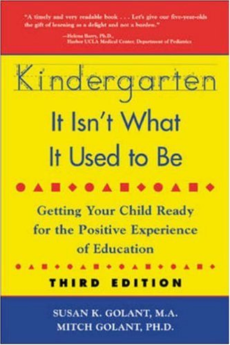 Kindergarten: It Isn't What It Used to Be