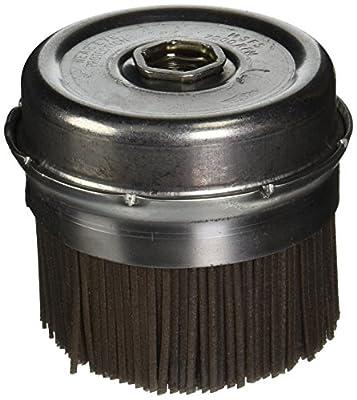 "Osborn 32149SP Abrasive Cup Brush, 4"" Diameter, 5/8-11NC Arbor Hole, 0.045"" x 0.090"" Fill Diameter, Silicon Carbide, 1-1/2"" Trim Length, 7000 Maximum RPM, 120 Grit Size"
