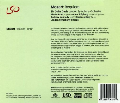 Mozart: Requiem by LSO LIVE