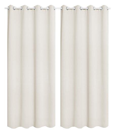 WOLTU 488-2, 2 x Gardinen Vorhang Blickdicht mit Ösen, 2er Set leichte &  weiche Verdunklungsvorhänge für Wohnzimmer Schlafzimmer Tür, 135x225 cm, ...