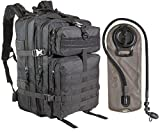 yukon range bag tactical - 45L Large Military Tactical MOLLE Backpack With 2.5L Hydration Bladder by MonkeyPaks Bug Out Bags, Assault Pack, Hunting, Hiking Rucksack (Black)