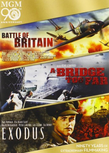 DVD : Battle of Britain / A Bridge Too Far / Exodus (3 Pack, Widescreen, Pan & Scan, 3 Disc)