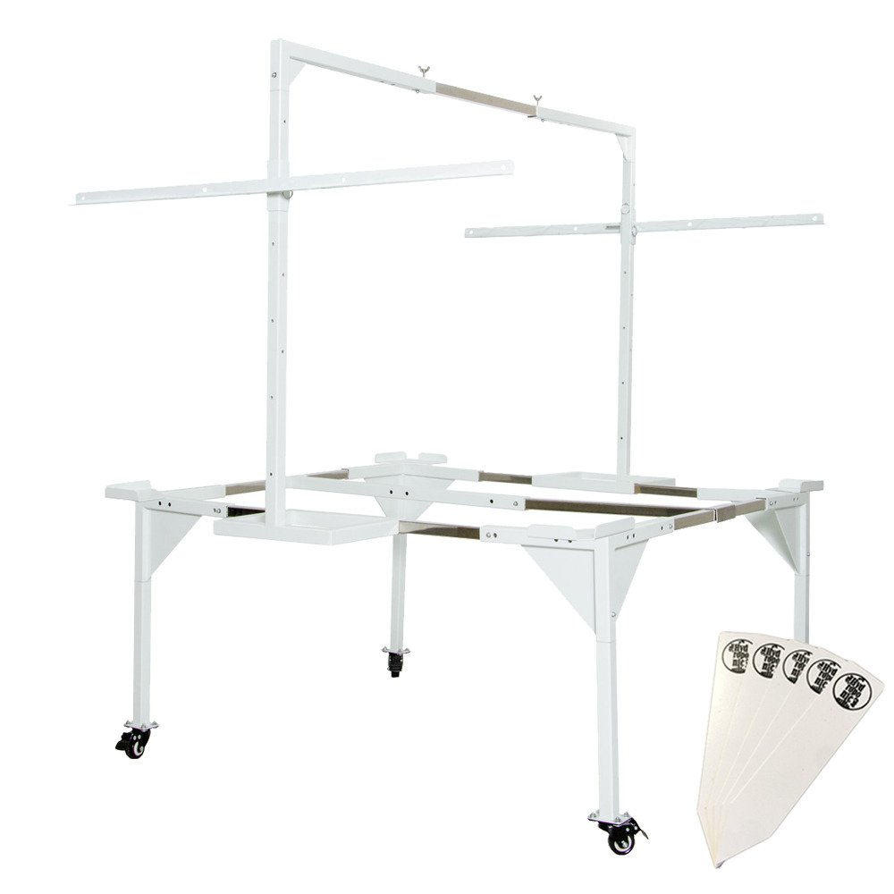 Active Aqua Universal Tray Stand & Light Hanger for Active Aqua 3' x 3' / 4' x 4' Flood Tables, Medium + Stakes by The Hydroponic City