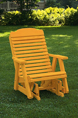 Pressure Treated Pine Outdoor Traditional Rocker Amish Made USA-Fir Pine Stain