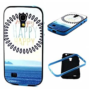 QHY Happy Pattern Back Case Cover for Samsung Galaxy S4 Mini I9190