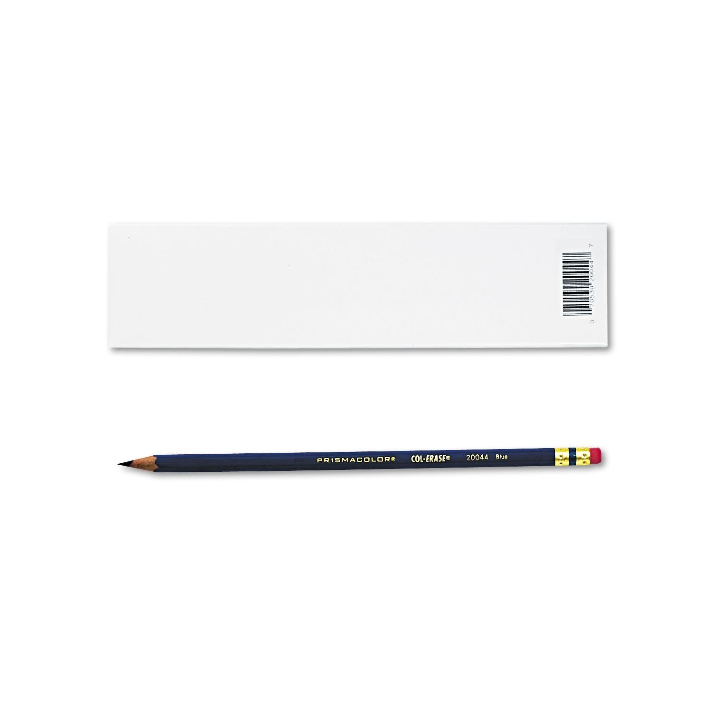 Prismacolor : Col-Erase Pencil with Eraser // Dozen -:- Sold as 2 Packs of Blue Lead Blue Barrel 12 Total of 24 Each
