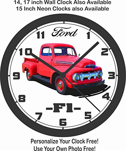 1951 FORD F1 PICKUP TRUCK WALL CLOCK-FREE USA SHIP-F100, F150
