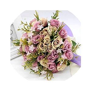 New Wedding Accessories New Bridesmaid Wedding Bride Bouquet Romantic Wedding Bouquet Flower Brides 24