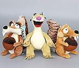 ice age toys scrat - Ice Age 4 Scrat Squirrel & Sid Sloth 7 - 9 Inch Toddler Stuffed Plush Kids Toys 3 Pcs/set