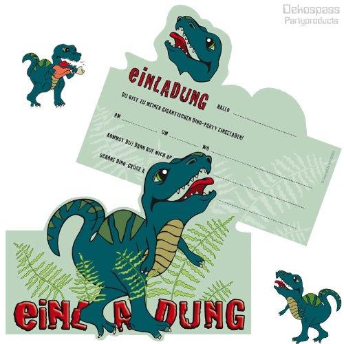 6 Einladungskarten * DINOSAURIER / T REX * Für Kindergeburtstag Und Party  Von DEKOSPASS // Kinder Geburtstag Party Kinderparty Dinoparty Einladung ...