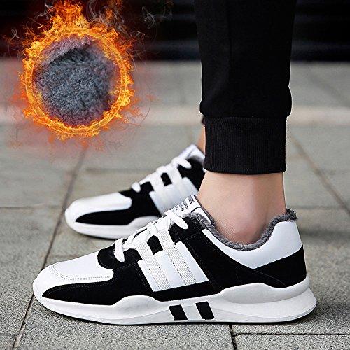 FEIFEI Scarpe da uomo Inverno Tenere in caldo Tempo libero Sport Plate Shoes 3 Colors (Colore : 01, dimensioni : EU40/UK7/CN41) 02