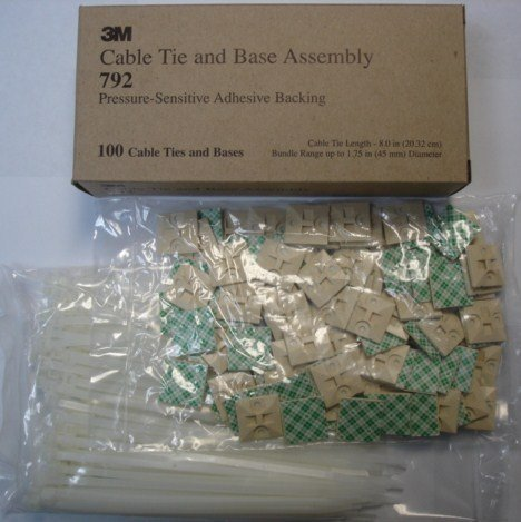 3m Cable Tie And Mounting Base Assembly #792 1000pcs.