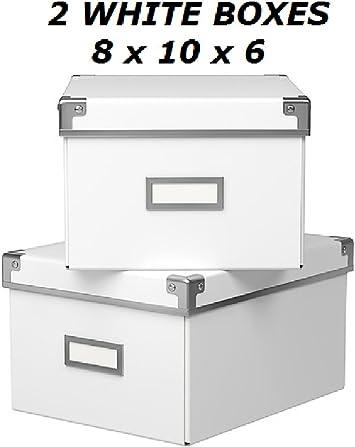 2 x IKEA KASSETT DVD STORAGE BOXES WITH