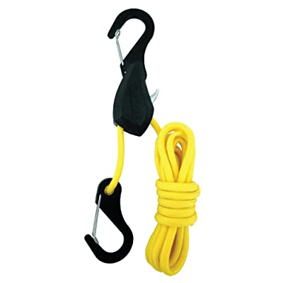 PROGRIP 056110 Better Than Bungee Rope Lock Tie Down with Snap Hooks: 6\' Yellow Paracord (Pack of 1): Automotive [5Bkhe0911975]