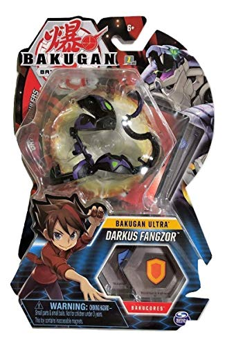 Bakugan Ultra, Darkus Fangzor, 3-inch Tall Collectible Transforming Creature, for Ages 6 and Up (Darkus Bakugan)