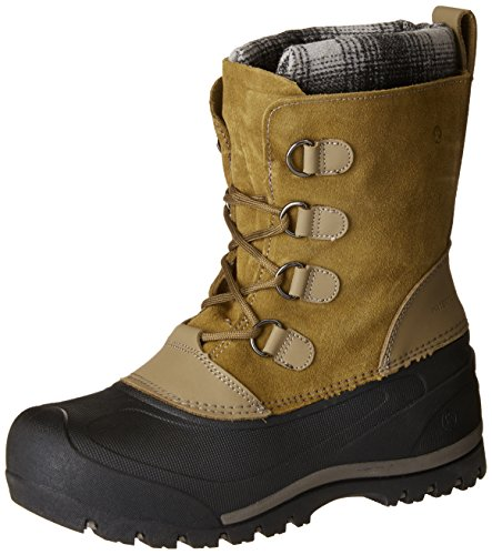 Snow Country - Northside Unisex Back Country Snow Boot, Tan/Grey, Size 2 Medium US Little Kid