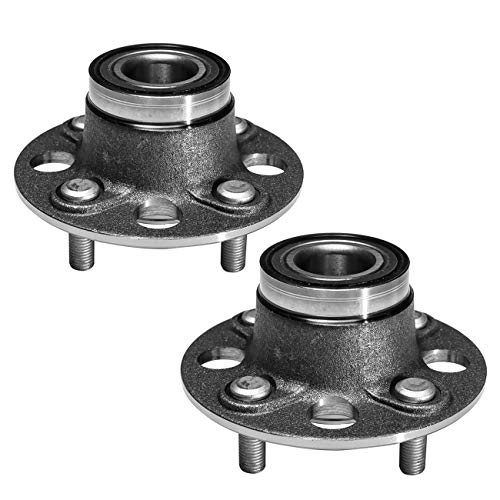 TUCAREST 512174 x2 (Pair) Rear Wheel Bearing and Hub Assembly Compatible With 2001 2002 2003 2004 2005 Honda Civic (DX, GX, HX, LX Models) [4 Lug Non-ABS]