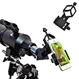 Ueasy Smartphone Capturer Universal Cell Phone Adapter Mount Compatible with Binoculars Monocular Spotting Scopes Telescopes and Microscopes