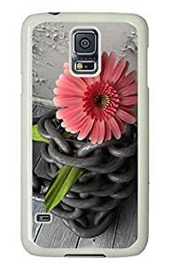 Samsung Galaxy S5 sell cover Pink Flower Awesome PC White Custom Samsung Galaxy S5 Case Cover