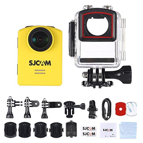 4K Action Sports Camera SJCAM M20 Wifi Mini Action Cam Chipset Novatek 96660 (4K/2880*2160,Gyro,166 Degree +HD Wide Angle, Adjustable FOV)H.264 Player, SD Card UP TO 128GB Yellow