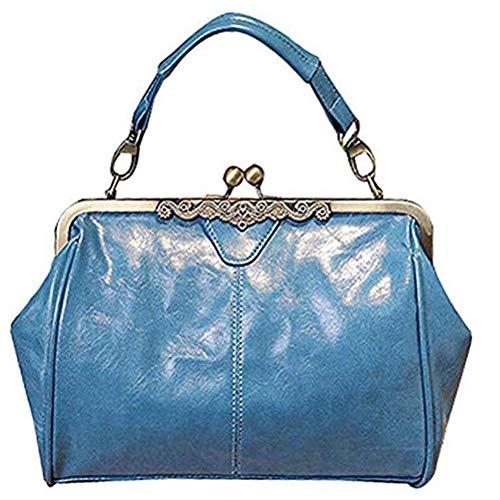 Retro Satchel Purse Totes Bag Bag Lock Vintage Imitation Women Handnbag Shoulder Handbag Minimalist Abuyall J Leather Kiss F5wHq4T