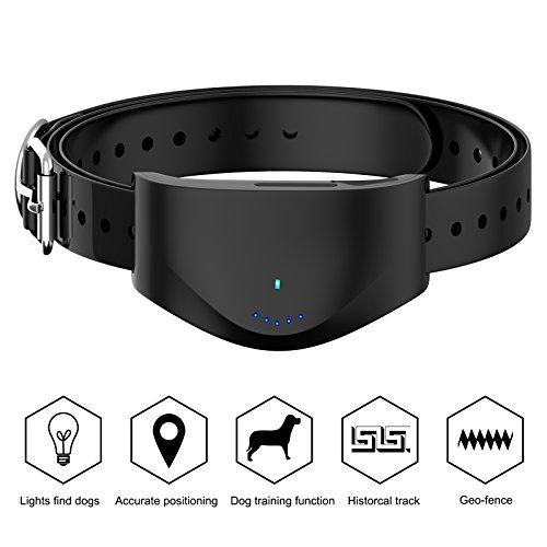 KUNSTWORKER Dog Barking Control, Rechargeable Dog Barking Control Training Collar Anti- lost Dog/Cat Finder Global GPS/GSM SIM, RealtimeTraining Activity Collar,IPX67 Waterproof (black)