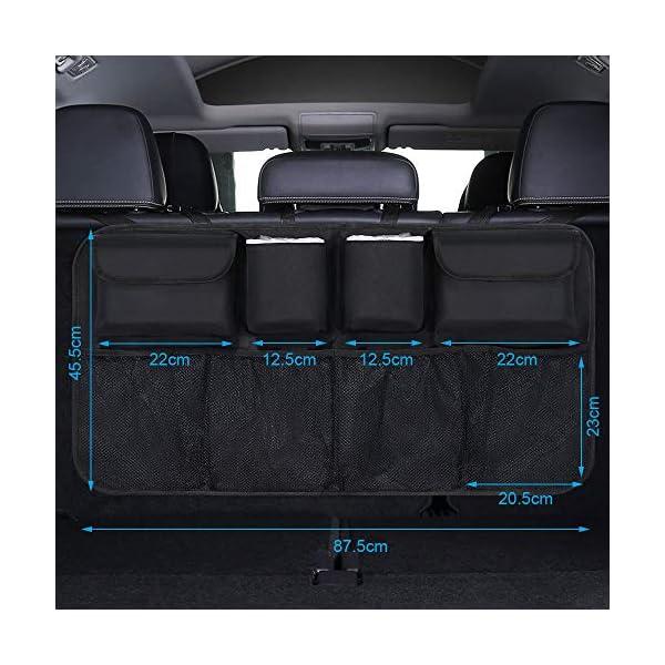 Organizer Auto, URAQT Protezione Sedile Auto Bambini Impermeabile, con Multi-Tasca dell'Organizzatore e Pocket… 3