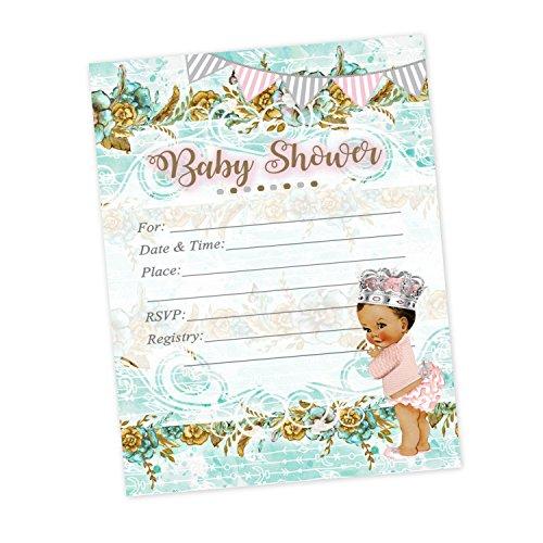 Princess Tutu Blue Baby Shower Invitations 20 count and (Tutu Invitations For Baby Shower)