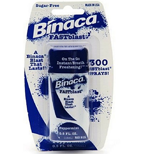 Binaca Fast Blast (Binaca Fast Blast Breath Spray PepperMint 0.50 oz (Pack of 6))