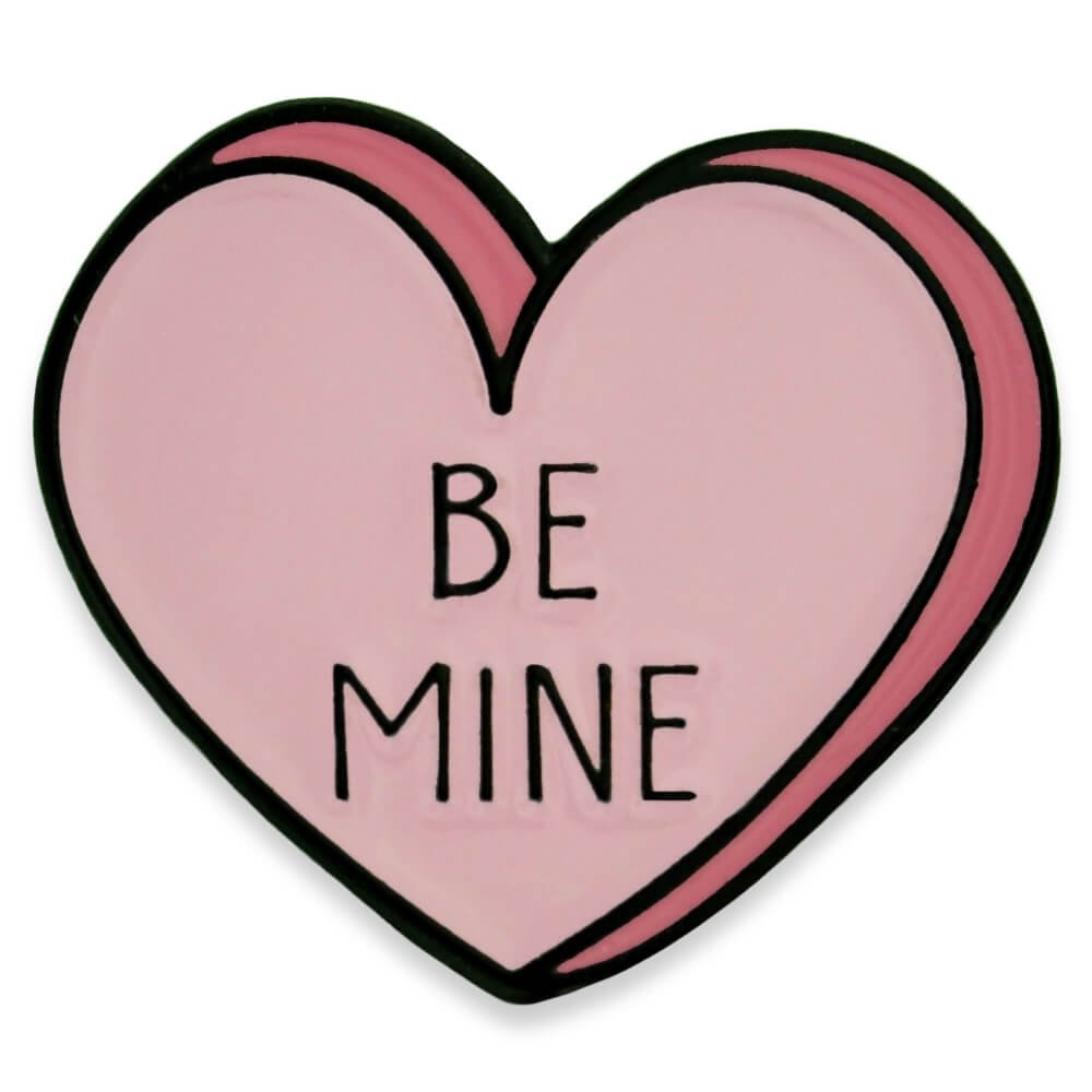 PinMart's Be Mine Candy Heart Valentine's Day Enamel Lapel Pin