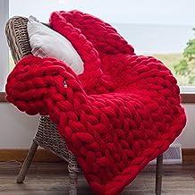 Chunky Knit Blanket,Blanket,Super Chunky Blanket,Giant Knit Blanket,Thick Yarn Blanket,Bulky Knit,Merino Wool,Extreme Knitting