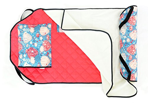 Urban Infant Tot Cot All-in-One Modern Preschool/Daycare Nap Mat with Elastic Corner Straps - Balloons -