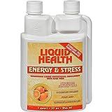 Liquid Health Energy and Stress Tangerine Orange - Superior Absorption - Stimulant Free - Energy Enhancer - 32 fl oz (Pack of 4)